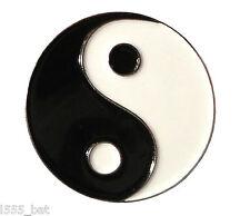 Yin and Yang Chinese Symbol Positive Negative Metal Enamel Pin Badge Ying Yang