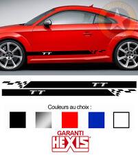 2 X BANDES BAS DE CAISSE POUR AUDI TT SPORT DECO PORTIERE STICKER BD579-31*