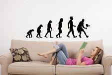 Evolution-Tenis-Gran Vinilo Calcomanía Pegatinas De Pared Decoración Mural Decoración Nuevo