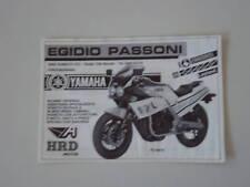 advertising Pubblicità 1986 YAMAHA FZ 400 R e PASSONI