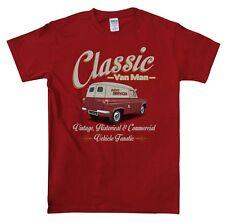 Ford Thames Van Classic Van Man T Shirt Retro Original Design Red