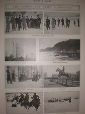 Printed photos Norwegian Army Manoeuvres 1905 Norway
