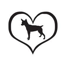 Heart Rat Terrier Love - Decal Sticker - Multiple Color & Sizes - ebn1504