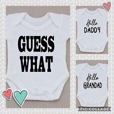 Unisexe Grossesse annonce Vêtements Babygrow Vest babyshower * Fantastique Cadeau *