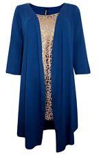 New 2 in1 Cardigan Top W/ Foil Leopard Print Size 16 18 20 22-24 26-28 & 30-32