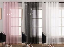 Gardine Schal Lurex glänzend verdecktes Schlaufenband transparent -20477-