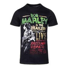 Official T shirt Bob Marley Noir Rasta Man Vibration Tour Band T-Shirt Toutes Les Tailles