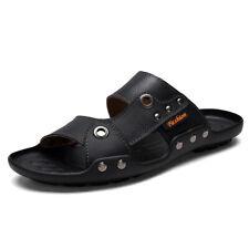 New Men's Beach Slippers Shoes Open Toe Slip on Slingback Flats Non-slip Casual