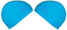 DESIGNER Erwachsene Kinder Stoff-Badekappe Swimming Caps Schwimmen Kappe, blau