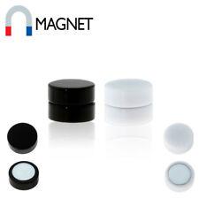 Magnet Fake Plug Ohr Acryl Non-Piercing Schwarz Weiß 8 mm Damen Herren