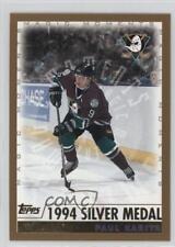 1999-00 Topps #281.2 Paul Kariya (1994 Silver Medal) Hockey Card
