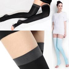 Women High Compression Slim Leg Thigh Over Knee Socks Open Toe against Varicose