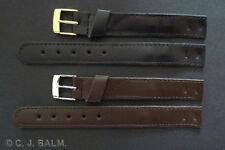 Cuero De Calidad Estilo Vintage abierta Correa Reloj negro o marrón 10mm to 20mm