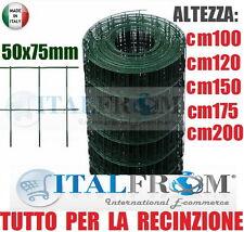 25mtROTOLO RETE METALLICA ZINCATA PLASTIFICATA ELETTROSALDATA-5x7,5cm-RECINZIONE