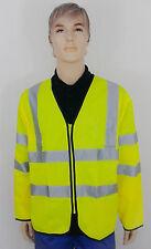 StepAhead Hi Vis Visibility Viz Long Sleeve Zip Front Safety Vest (Spa/Holl)