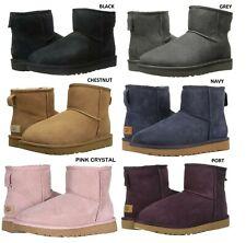 NEW UGG Women's Classic Mini II Winter Boots Shoes Black Chestnut Grey Navy Sand