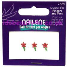 NAILENE FALSE NAIL ART FLOWER STICKER RHINESTONE GEMS 77397 FINGERS & TOES NAILS