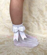 Spanish/Romany Doubke Bow Openwork Ankle Socks Girls/Baby
