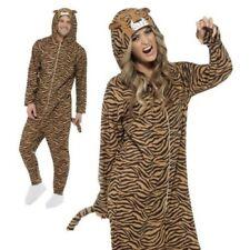 Adult Tiger Jumpsuit Costume Zoo Unisex Cat Book Week Day Fancy Dress M,L