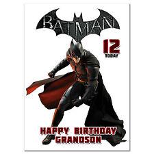 C235; large personnalisé de carte d'anniversaire; faites sur mesure pour tout nom; batman