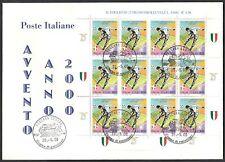2000 ITALIA FDC MINIFOGLIO LAZIO CAMPIONE ITALIA CALCIO