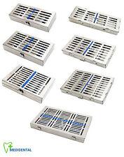 Sterilizzazione strumenti dentali Pro Cassette autoclavabile in acciaio INOX NUOVO