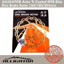 Alligator Aries Ti Coated MTB Bike Disc Brake Rotor 160mm 180mm 203mm Titanium