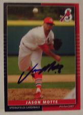 Jason Motte autographed 2007 Springfield Cardinals card