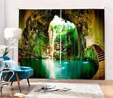 Incredible Ik Kil Cenote 3D Blockout Photo Printing Curtains Draps Fabric Window