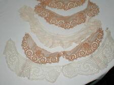 7 Antique cotton lace  fancy dress collars & lace lot VGC