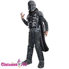 Superman Man of Steel Deluxe Muscle General Zod Costume Child Boys Fancy Dress