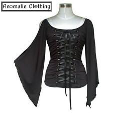 Chic Star Black Stretch Lace-Up Corset Top - Retro Victorian Gothic Lolita Goth
