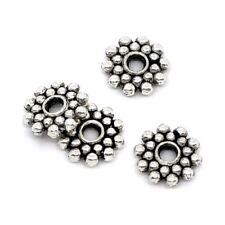 Intercalaires spacer _ FLEUR arg 8x8x2mm _ Perles apprêts création bijoux _ A041