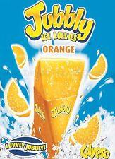 RETRO METAL PLAQUE : Orange JUBBLY  sign/ad