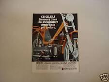 advertising Pubblicità 1979 GILERA CBA