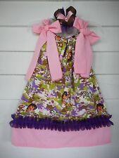 Handmade Dora the Explorer Pillowcase Dress Camouflage Toddler Girls Sizes