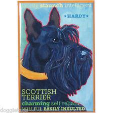 Scottish Terrier - Dog Portrait - Fridge Magnet - Reproduction Oil Painting