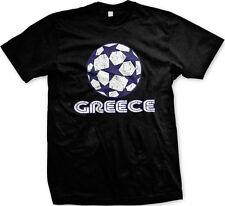 Greece Stars Soccer Ball Greek Country Team Born Heritage GRC GR Men's T-Shirt