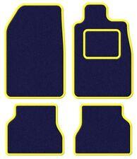 PEUGEOT 406 Coupé 97-03 velours bleu / jaune trim Ensemble tapis de voiture