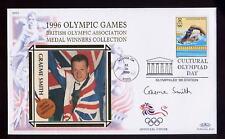 Gb 1996 Juegos Olímpicos De Natación Bronce Smith Firmado cubierta