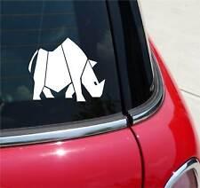 RUGGED RHINO RHINOCEROS HORN GRAPHIC DECAL STICKER ART CAR WALL DECOR