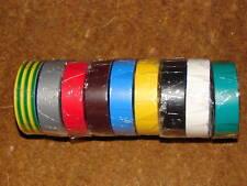 1 Rollo De Cinta Aislante De Pvc 20m Eléctrica 9 Colores