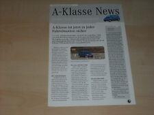 38989) Mercedes A-Klasse W168 News Prospekt 12/1997