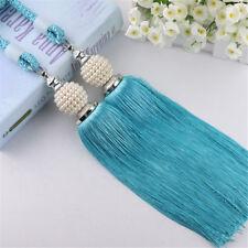 1 Piece (2X Tassels ) Tiebacks For Curtains Braided Rope Pearl Decor Tie Backs