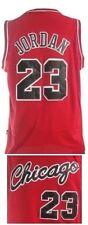 CANOTTA/JERSEY COLLEZIONE-BASKET NBA-CHICAGO BULLS-JORDAN #23 ROOKIE-ROSSA-S/M/L