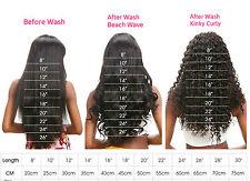 8A Wet & Wavy Virgin Remy Human Hair Bundles +Top Lace Closure Natural Black Lot