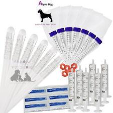 6 Alpha Dog Premium ArtificiaI Insemination Kits Canine Breeding Tubes AI Rods