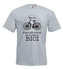 T-shirt Maglietta J1250 Ho Bisogno di Andare in Bici Non dallo Psicologo