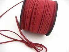 6 meters wine Leather Cord soft Suede Lace velvet Thread DIY Bracelet findings