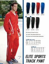 New Unisex Adults Elite Sports Track Pants with Zip Pockets & Zipper Opening Hem